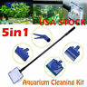 5 in 1 Aquarium Fish Tank Cleaning Tool Set Glass Brush Fishnet Magnetic Cleaner