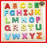 Wooden Alphabet Toddler Puzzles Toys For 2 - 3 Year Olds Kids With Big Bright