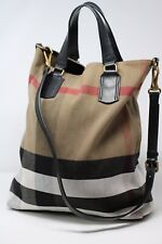 Authentic BURBERRY bag canvas leather TOTTENHAM tote CROSS BODY incl DUSTBAG