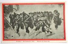 Cartolina Associazione Nazionale Bersaglieri - Roma XX Settembre 1870 - Breccia