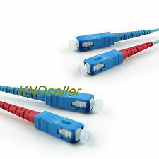 40M 130FT SC-SC DUPLEX MULTIMODE FIBER OPTIC Cable 10G 50/125 µm OM3 AQUA 10GB