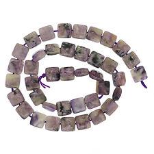 "15.8"" Russian Charoite Flat Square Beads 10mm #86181"