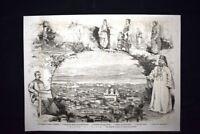 Veduta di Nissa nel 1876 Incisione del 1876