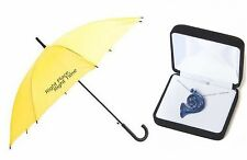 Soul Mate Gift Set Yellow Umbrella & Blue French Horn Necklace inspired by HIMYM