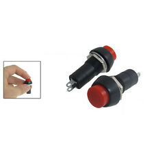 Hot Sale 5 Pcs Red AC 250V 3A SPST On/Off Self Locking Push Button Switch New
