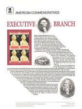 #330 25c Executive Branch #2414 USPS Commemorative Stamp Panel