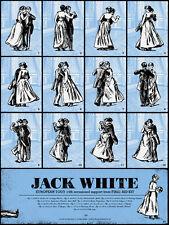 Jack White 2012 Europe Tour Poster Print Rob Jones Euro European Raconteurs NEW