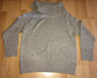 Pure & Natural Womens Jumper Beige Warm Autumn Winter Size Large 16-18 Plus Size