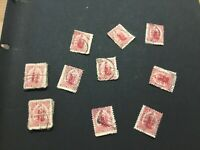 RARE NEW ZEALAND STAMP 1902 one penny universal postage stamp used 58x