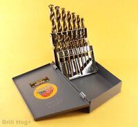 15 Pc Cobalt M42 Drill Bit Set HSSCO Drills M-42 Index Bits Lifetime Warranty