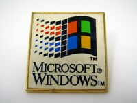Vintage Collectible Pin: Microsoft Windows