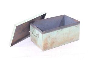 Big Transport Chest Metal Industrial Design Shelf Loft Metal Box Vintage