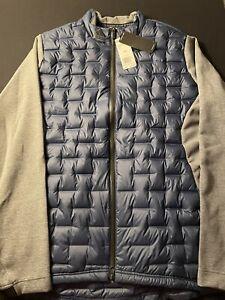 Adidas Golf Frost Guard Blue Gray Insulated Puffer Jacket DZ8546 Size 2XL $200