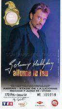 JOHNNY HALLYDAY TICKET DE CONCERT ORIGINAL VINTAGE 7 7 1999 AMIENS