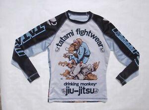 Tatami Fightwear women's large drinking monkey Jiu Jitsu base layer shirt