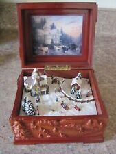 New ListingThomas Kinkade The Spirit Of Celebration Winter Wooden Music Box