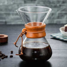 400ml/3 Cups Pour Over Coffee Maker High-temperature Glass Coffeemaker Chemex