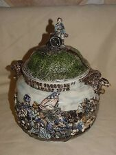 """Washington Crossing the Delaware 1776 Cookie Jar 13"""" Tall Unknown Maker Age NICE"""