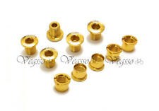 NEW MOWA ALLOY CRANK CHAINRING BOLTS SCREWS SHIMANO 5pairs, GOLD