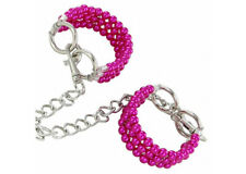 Pretty in Pink Beaded Wrist Restraints