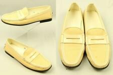 TOD'S Italy Canvas Leather Loafers Slip On Round Toe Casual Shoes 8.5
