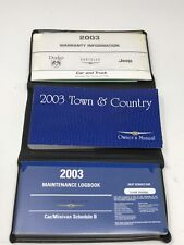2002 Chrysler Town /& Country Owners Manual with Case /& FREE SHIPPING