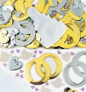 Cake Hearts Rings Wedding Table Confetti Foiletti Decoration 14-84g