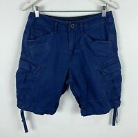 G Star Mens Cargo Shorts 29 Blue Pockets