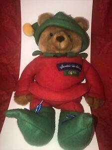 Chris The Elf Bear Santa's Workshop Elf #25 Hallmark Christmas Stocking With Tag