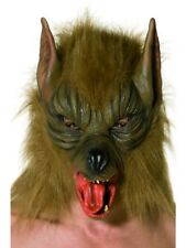 Brown Werewolf Mask Adult Deluxe Halloween Full Face Mask Fancy Dress Wolf