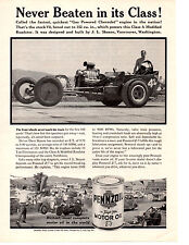 1961 CLASS A MODIFIED ROADSTER / DAVE SKEANS   ~  ORIGINAL PENNZOIL PRINT AD