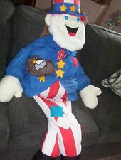 PATRIOTIC LIFE SIZE UNCLE SAM DOLL FOR YOUR FORTH OF JULY PORCH DISPLAY