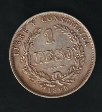 URUGUAY 1 PESO 1895, SILVER VERY NICE. CONDITION