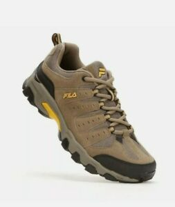 MENS FILA TRAVAIL BROWN SHOES SIZE 10.5 EEEE TRAIL RUNNING SHOES - EUC