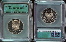 2003-S ICG  KENNEDY HALF DOLLAR  PR70 DCAM   (351)  A BEAUTY