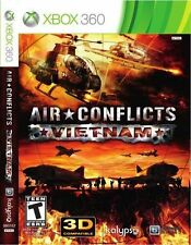 AIR CONFLICTS VIETNAM XBOX 360 NEW! WAR, WARFARE, PILOT JETS, HELICOPTERS COMBAT