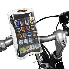 Ibera Bike White Handlebar Smartphone Case & Bottle Cage Mount - NEW PB9Q1-W