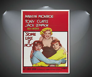 Some Like It Hot Marilyn Monroe Vintage Movie Poster - A1, A2, A3, A4 sizes