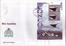 5106+ CONCORDE   NON  DENTELE  1er JOUR BLOC  GAMBIE  2004