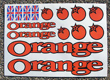 ORANGE Mountain Bike MTB Cycle Frame Decals Stickers