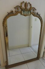 Antique Neoclassical Adam Style Mirror with Wedgwood Style Panel ~ 58""