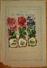 Victorian Diecut Scrap 1890s on Large 10x7 Chicoree Advertising-Flowers & Scenes