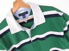 M831 TOMMY HILFIGER POLO SHIRT TOP ORIGINAL PREMIUM STRIPS size XL