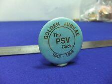 vtg tin badge psv circle golden jubilee 1943 1993 public service vehicles club