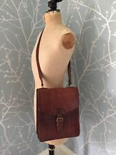 Stunning Leather Shoulder Bag / Cross Body Man Or Womans Retro