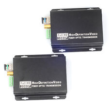 Fiber Optic Converter RS422 Data HD-SDI to LC Audio in/ out Transmitter Receiver