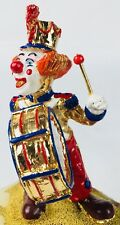 Ron Lee Clown Marching Band Playing Drum In Pared  Multi Color Signed Figurine