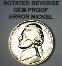 1960 ERROR ROTATED REVERSE Jefferson Nickel GEM PROOF Coin LOT #25  NR