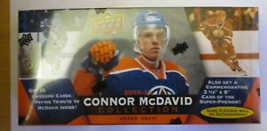 NHL 2015-16 UPPER DECK FACTORY SEALED CONNOR MCDAVID TRADING CARD COLLECTION