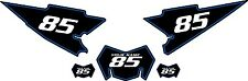 2008-2015 Yamaha WR250X Custom Pre-Printed Black Backgrounds with Blue Pinstripe